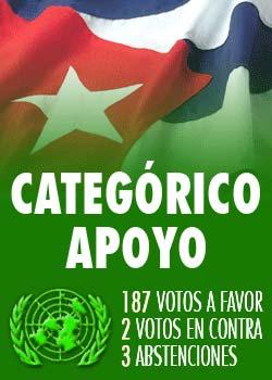 ONU ratifica rechazo mundial al bloqueo a Cuba