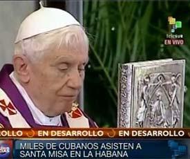 Resumen de algunos momentos del programa de la Visita Pastoral del Papa Benedicto XVI a Cuba