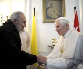 Se reunieron Fidel y el Papa