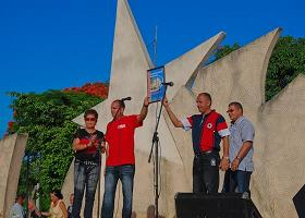 Celebran en Encrucijada Día de la Rebeldía Nacional