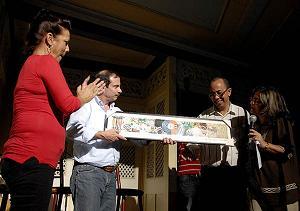Asistió el héroe Fernando González a celebración del tercer aniversario de la Peña La casa como un árbol