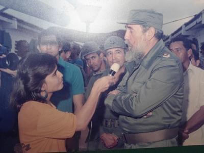 Mi foto con Fidel